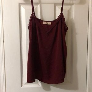 Dainty Hollister Tank with Lace